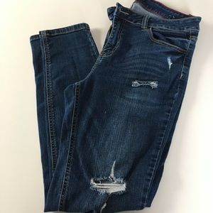 Cello, 13 med wash distressed jeans